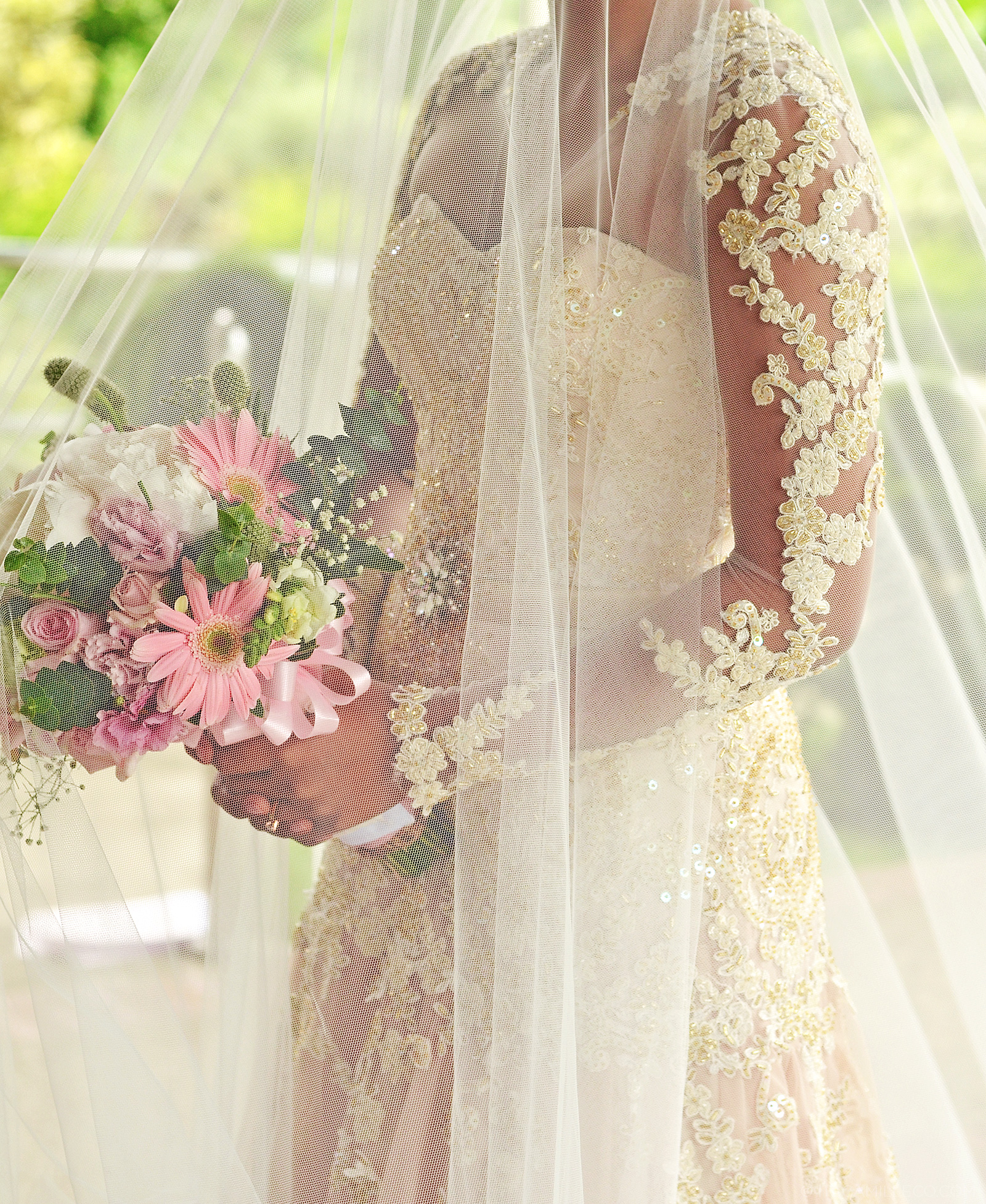 Wedding Entourage Gowns: Lace Bridal Gown And Entourage By Camille Co