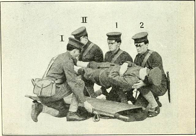 "Image from page 211 of ""American national Red cross text-book on first aid and relief columns; a manual of instruction; how to prevent accidents and what to do for injuries and emergencies"" (1908)"