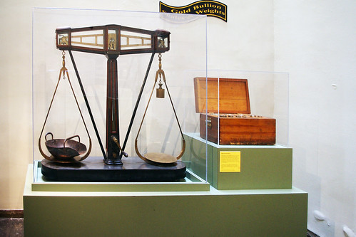 New Orleans Mint museum scales and weights