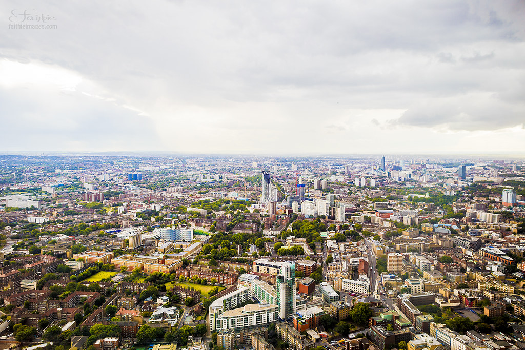 Panorama of the City of London from the Shard