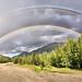 Rainbow near Cassiar BC by D. P. Reynolds