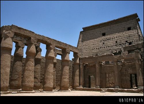 Peristyle courtyard of Rameses II