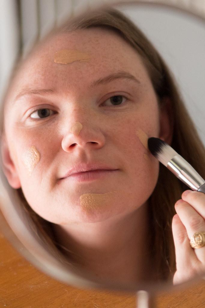 Applying Long Wear Liquid Makeup #AllDayLook #Shop