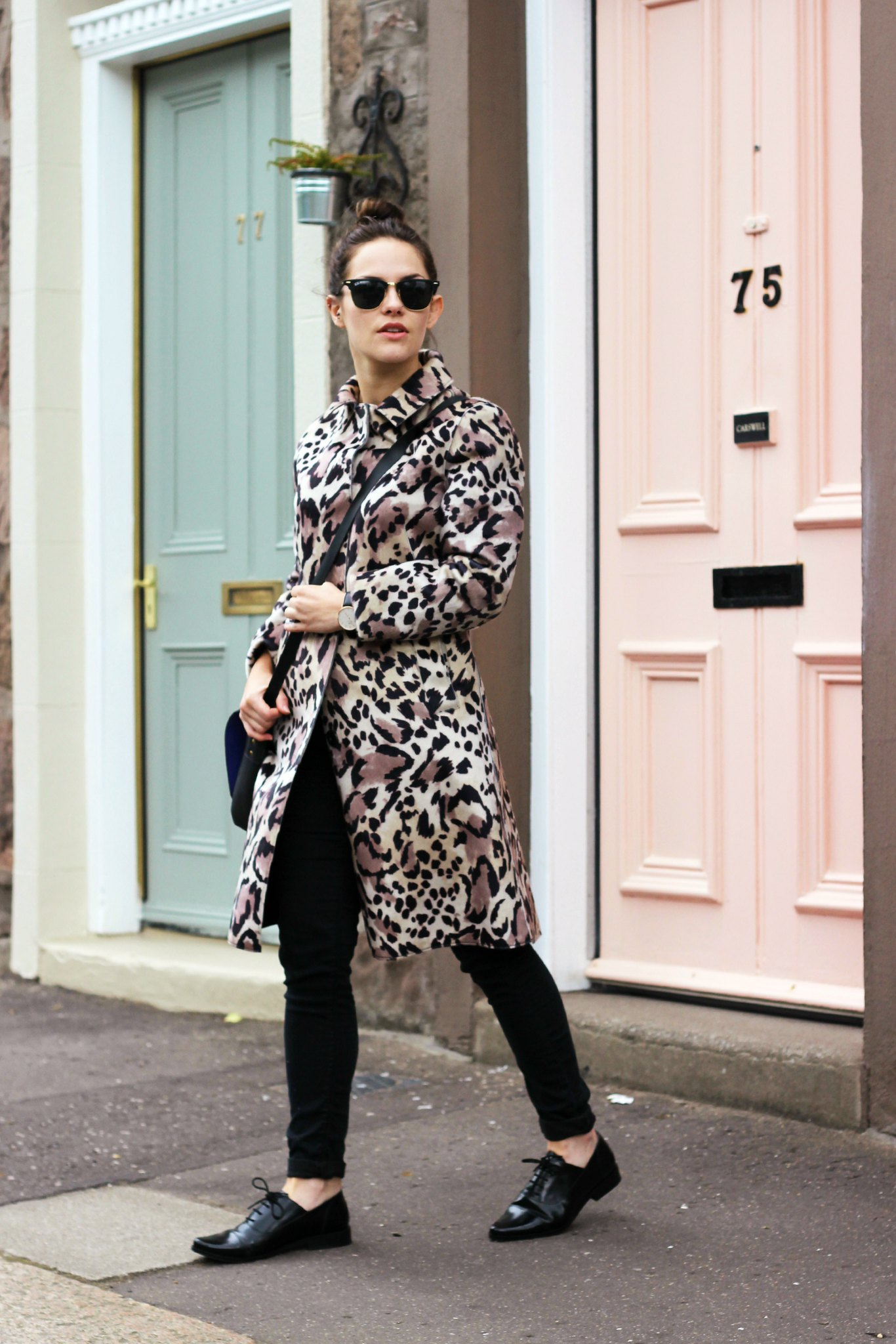 Warehouse Leopard coat 2