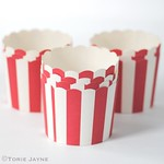 Red & white stripe baking cups