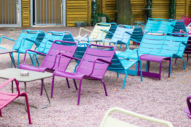 colourful chairs in Sweden
