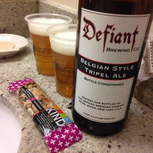 Defiant Belgian Style Tripel Ale with Kind Bar - Treat While Babies Sleep