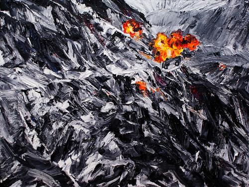2.和丽斌作品《幻灭.4》油画 240×180cm 2008年