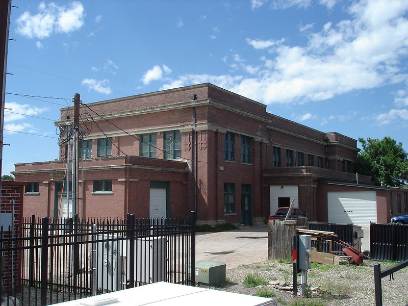 Chicago, Burlington and Quincy Railroad (C B & Q)  Train Depot (the new one, built in 1912) in Sheridan, Wyoming  (4)