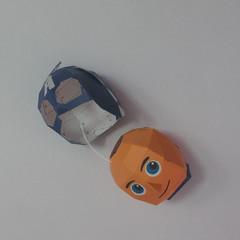 วิธีทำของเล่นโมเดลกระดาษกับตันอเมริกา (Chibi Captain America Papercraft Model) 005