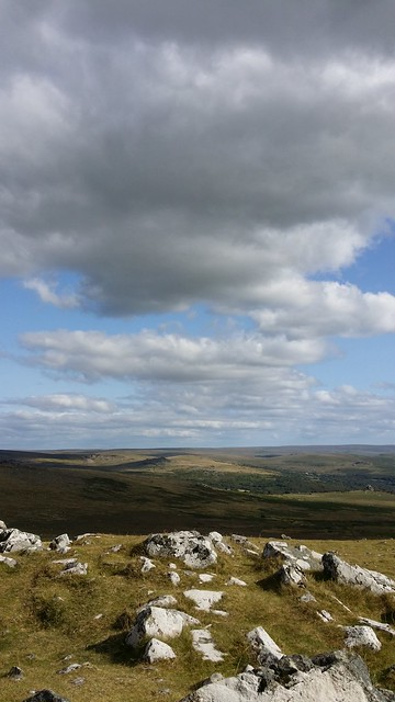 Clouds rolling over Cox Tor