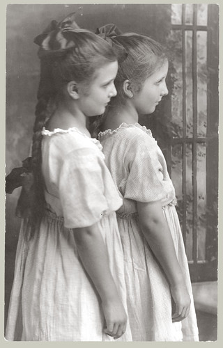 Two girls in profile