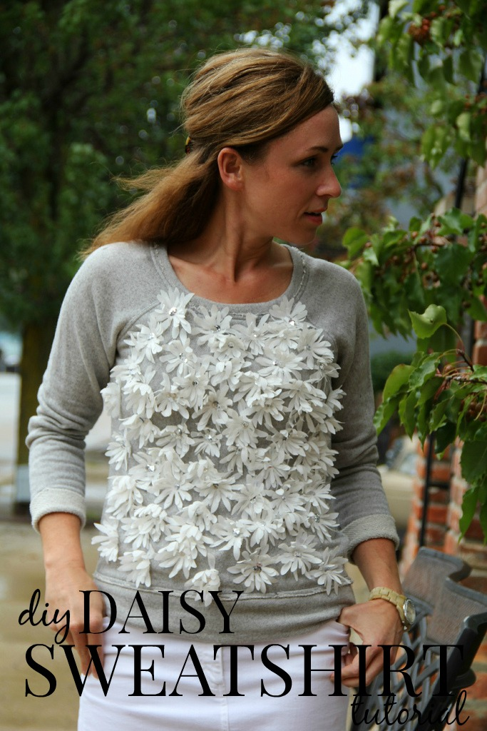 how to make a daisy sweatshirt via Kristina J blog