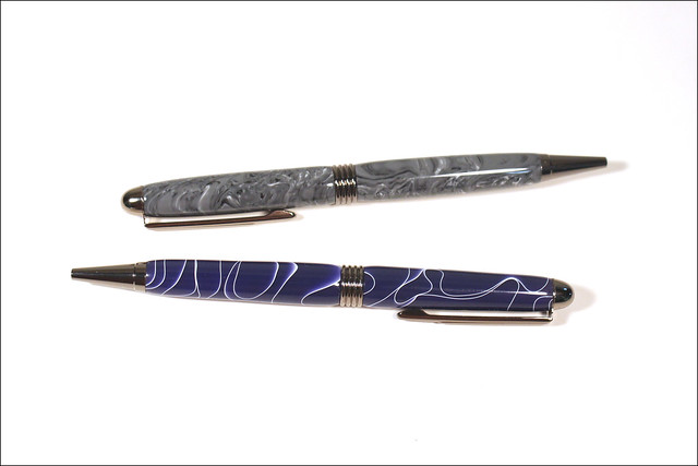 Two Streamline Acrylic Ballpoint Twist Pens
