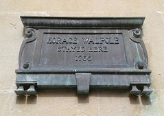 Photo of Horace Walpole bronze plaque