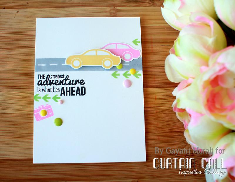 Adventure card flat