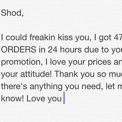 Tag a small business! Another satisfied customer! SHODSANTIAGO@gmail