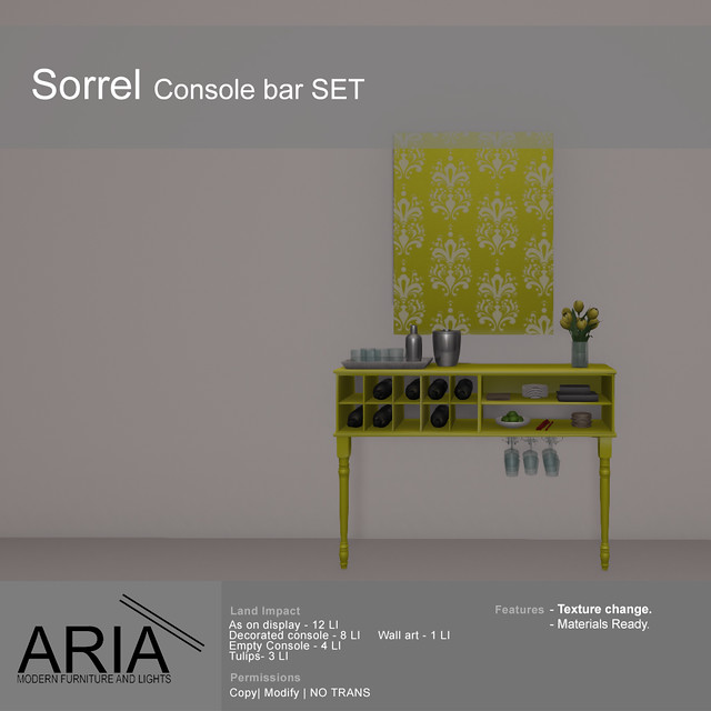 Sorrel console bar SET @ Creation.jp