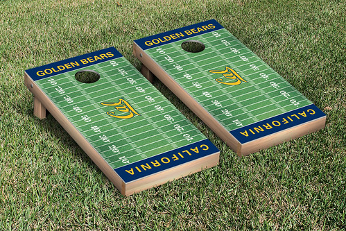 California Berkeley Golden Bears Cornhole Game Set Football Field Version