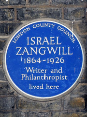 Photo of Israel Zangwill blue plaque
