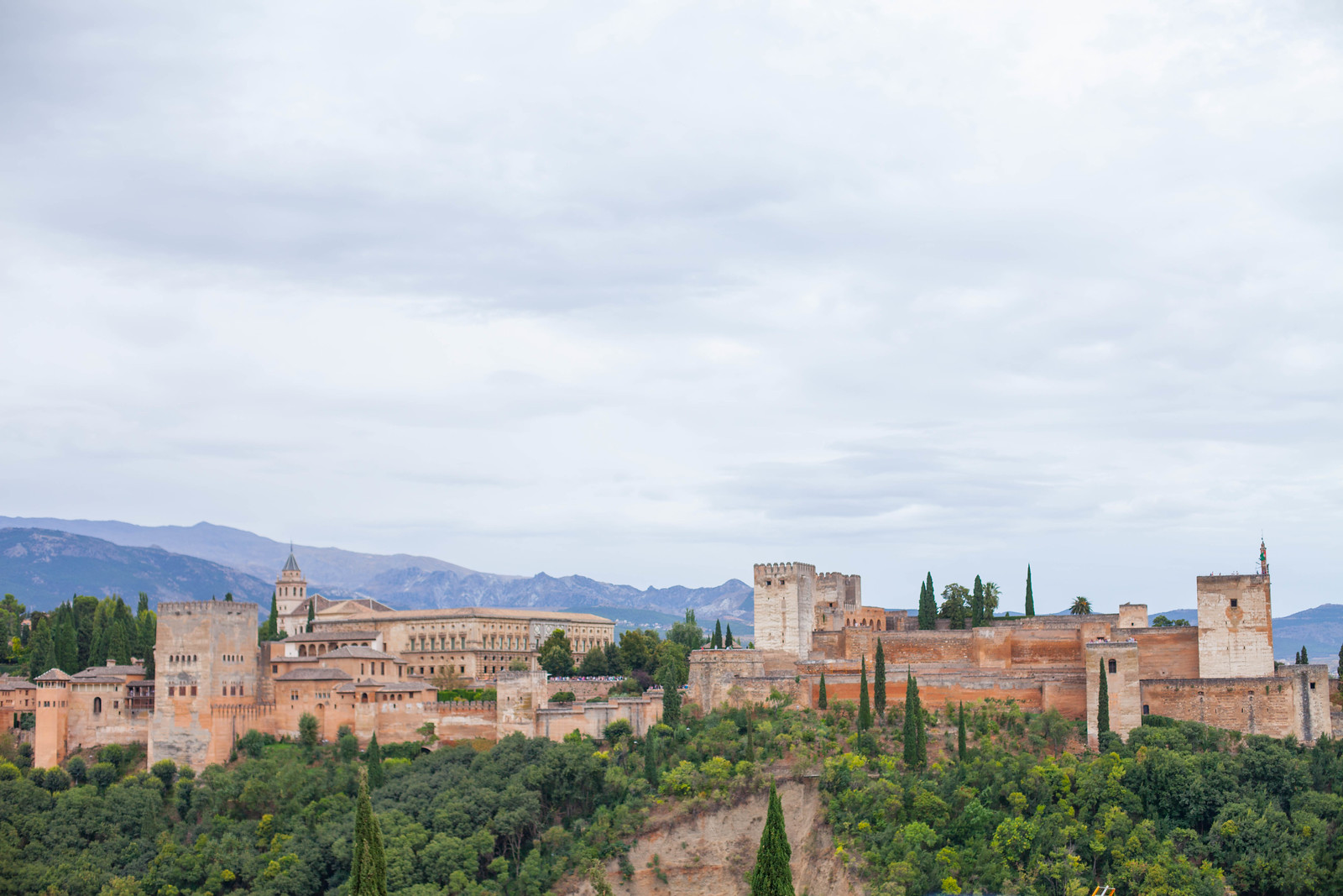 The Climb to Sacramonte. View of the Alhambra, Granada
