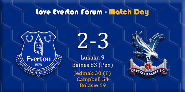 Everton v Crystal Palace banner