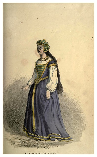 004-Una dama inglesa del siglo XV-Select historical costumes compiled from the most reliable sources -1868