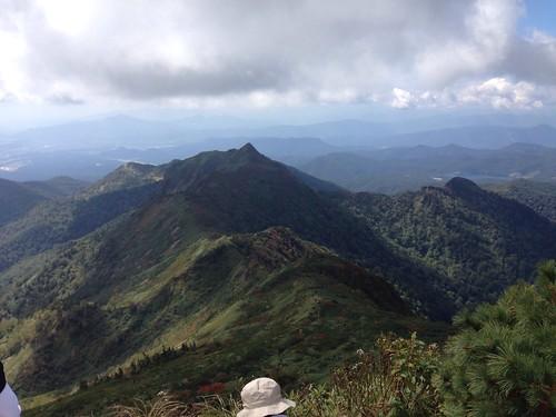 武尊山頂から