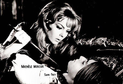 Michèle Mercier and Sami Frey in Angelique et le roy, 1966