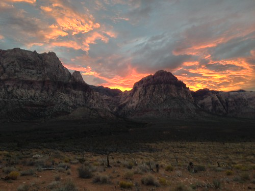 Just outside Red Rock Canyon