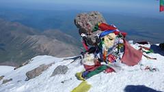 Na szczycie Elbrus 5642m. Widok na północ.