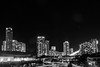 Gold Coast City By Night In BW