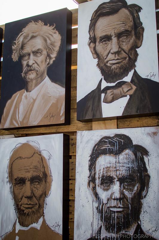 lincoln mark twain painting