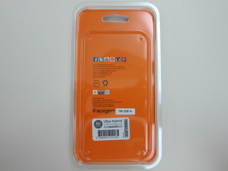 Spigen iPhone 6 Plus Ultra Hybrid Case - Packaging Back
