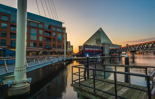 Sunrise at the National Aquarium by Geoff Livingston
