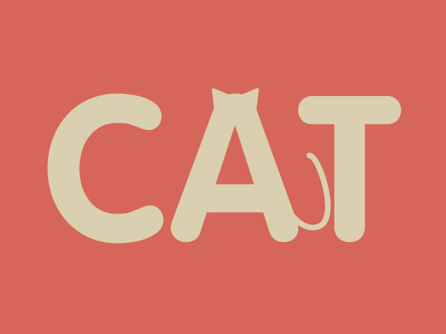 Typographic Expression: Cat