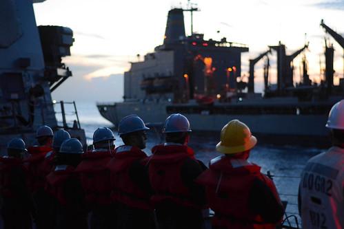 Midshipmen experience Pacific patrol aboard FDNF Destroyer