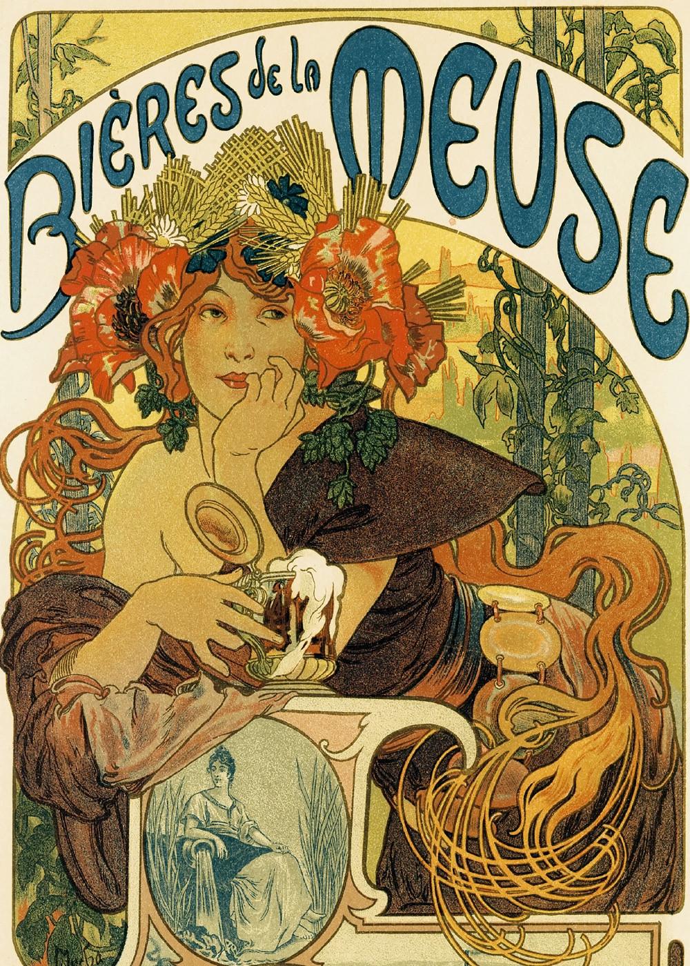 Bières de la Meuse by Alphonse Mucha