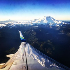 40 days, 16 cities and airports, 9 countries later, finally heading home. #alaskaairlines #washington
