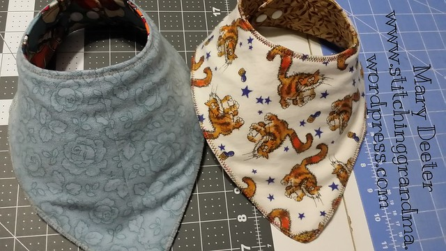 flannel backed bibs