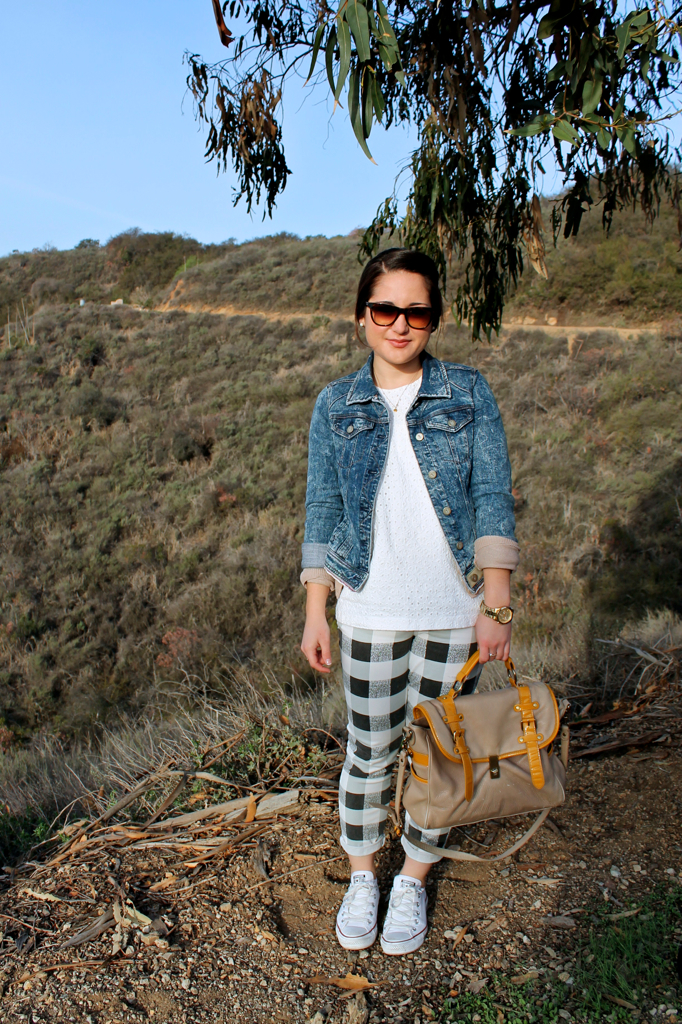 how to style gingham pants