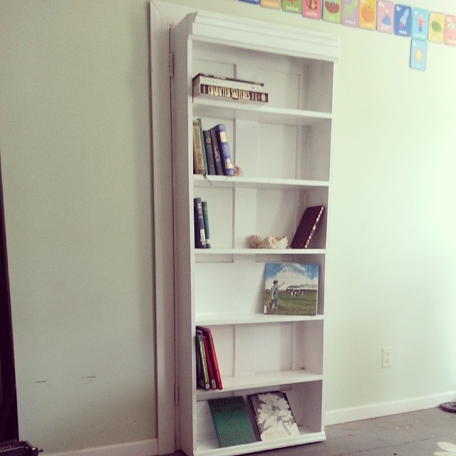 An immensely satisfying feeling. #books #bookcase #doorbookcaseproject #DIY #woodworking #homeschooling