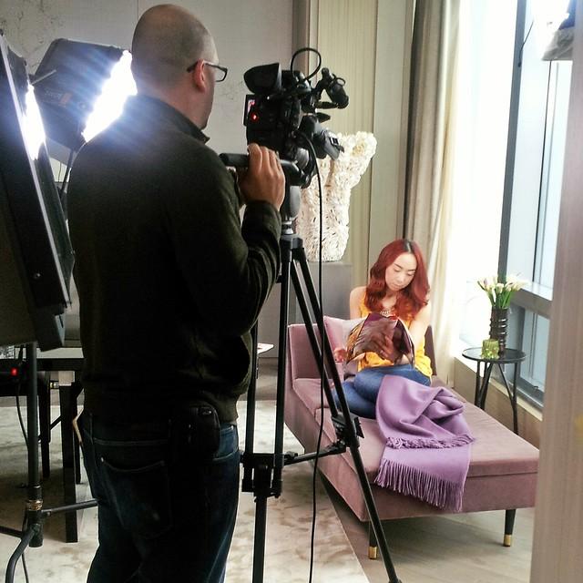 biotherm, fashion magazine, behind the scenes, video shoot, skin care, four seasons Toronto, Toronto, presidential suite