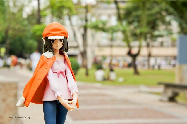 Figma Nadeko Sengoku of Monogatari anime outdoor