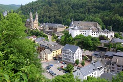 View on the small town of Clervaux, in Luxembourg