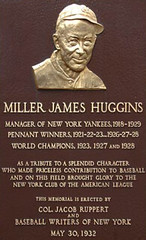 Miller Huggins Momument at Yankee Stadium