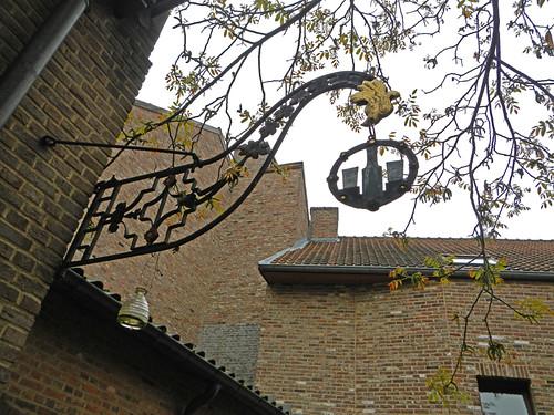 the Gin Museum sign in Hasselt, Belgium