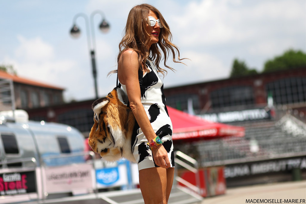 Anna Dello Russo at Milan Fashion Week day 4