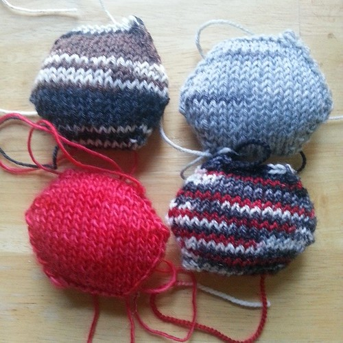 New hexipuffs #knitting