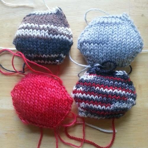 New hexipuffs #knitting